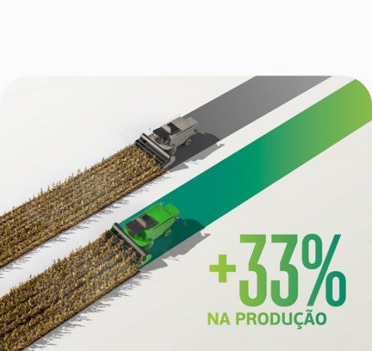 Uso de uma solução Satis associada aos fungicidas garantiu aumento de até 33% na produtividade média da soja.